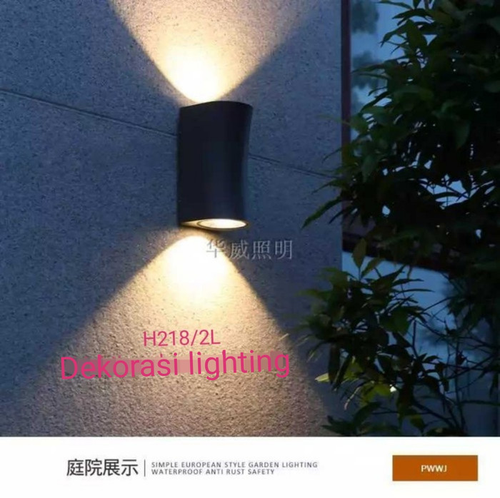 harga H218 h219 lampi hias dinding waterproof 2x5w sorot wall lamp Tokopedia.com