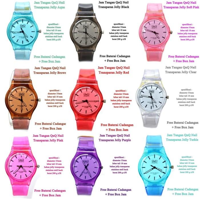 grosir jam tangan qnq transparan Romawi