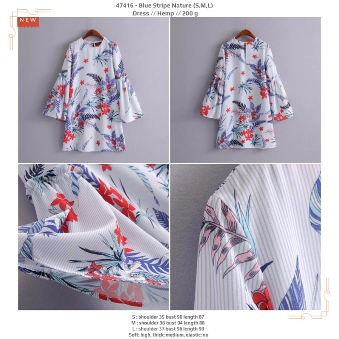 harga Blue stripe nature (sml) dress -47416 Tokopedia.com