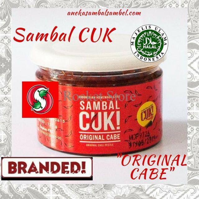 SAMBAL/ SAMBAL ORIGINAL/ SAMBAL CUK/ SAMBAL PEDAS - SAMBAL CUK