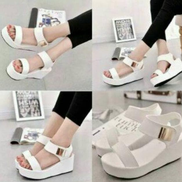 harga Fashion sepatu wanita wa06 wedges murah wanita fashion Tokopedia.com