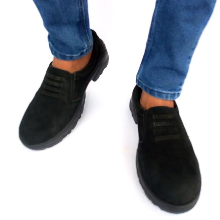 Foto Produk Rasheda sepatu casual pria kulit asli 017 BIG SIZE - Hitam, 45 dari Rasheda Store