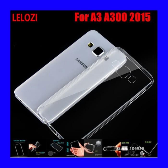 Foto Produk Samsung Galaxy A3 a300 2015 - Transparan Clear TPU Soft Case Cover dari Max Case