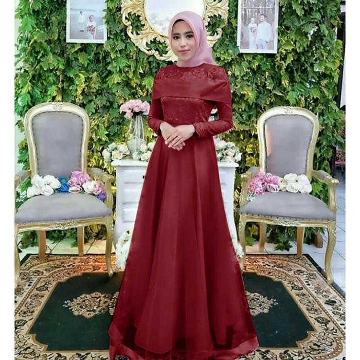 Jual Baju Muslim Wanita Maxy Tile Syantik Maroon Dki Jakarta Trendy Distro Tokopedia