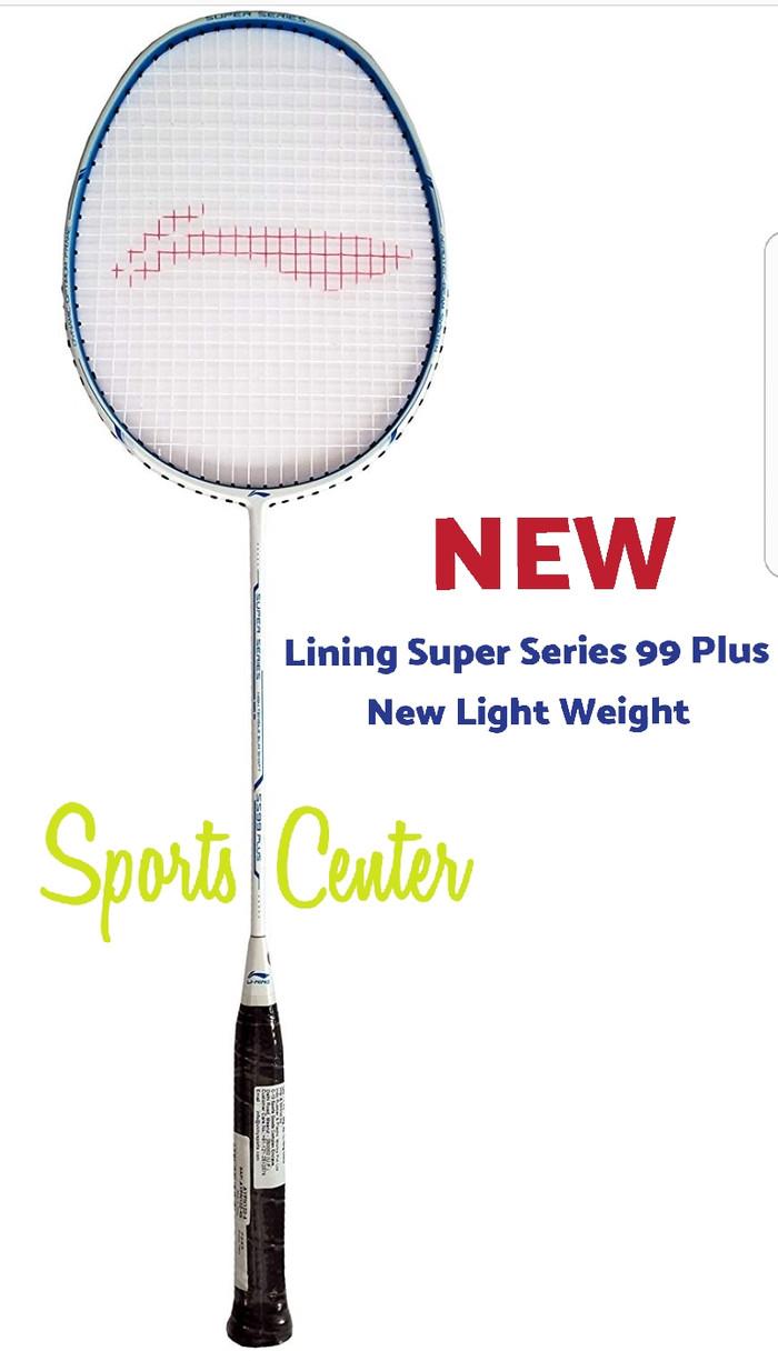 Jual Full Set Raket Badminton Lining Ss 99 Plus New Light Weight Original White Blue Sports Center Tokopedia