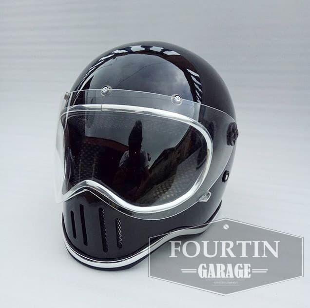 harga Helm custom classic simpson m50 flat visor retro vintage klasik Tokopedia.com