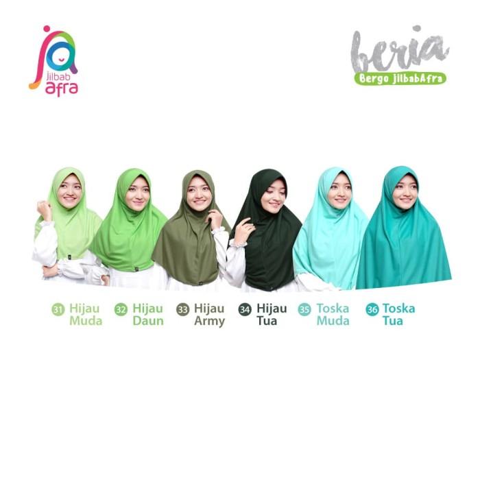 Jilbab Beria Size S - Bergo Jilbab Afra - Hijab Instan Bahan Kaos