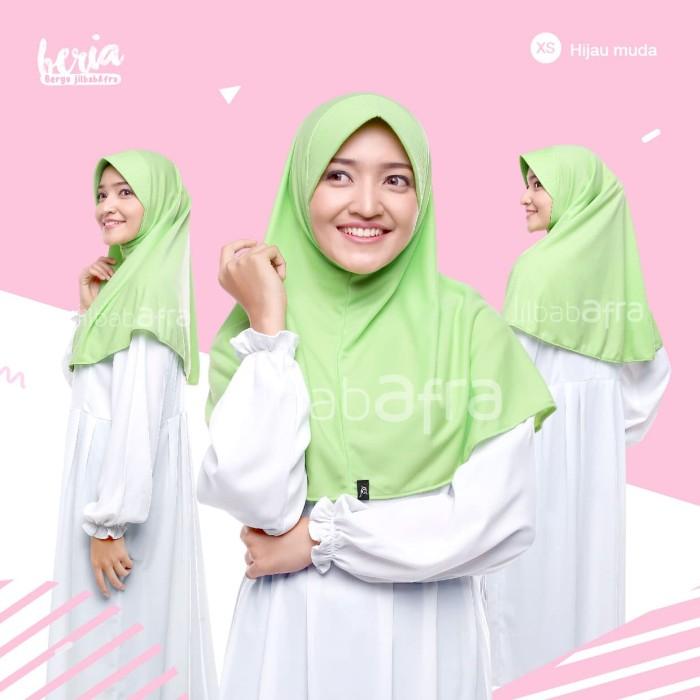 Jilbab Beria Size XS - Bergo Jilbab Afra - Hijab Instan Bahan Kaos - Putih