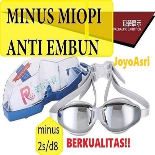 Kacamata Renang Minus Kaca Mata MIOPI Anti Fog Spray