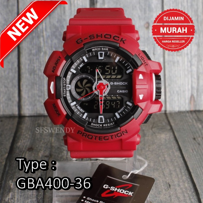 Jual TERJUAL TERBANYAK !!! Jam Tangan G Shock GBA-400 Tali Merah ... 6758eb1e46
