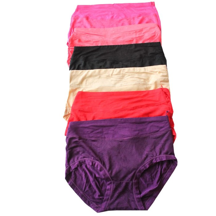 Jual Celana Dalam Wanita Soft Cotton Set 6 Pcs Motif Bunga Abstrak