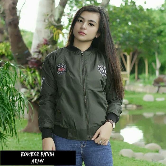 Jaket Cewek Bomber / Jaket Wanita - Despo Tebal - Maroon bdg