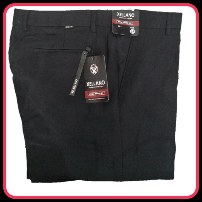 Foto Produk Celana Formal Panjang Pria Kerja Kantor Pria Hitam Bahan Drill XD72 - Hitam dari viral yours