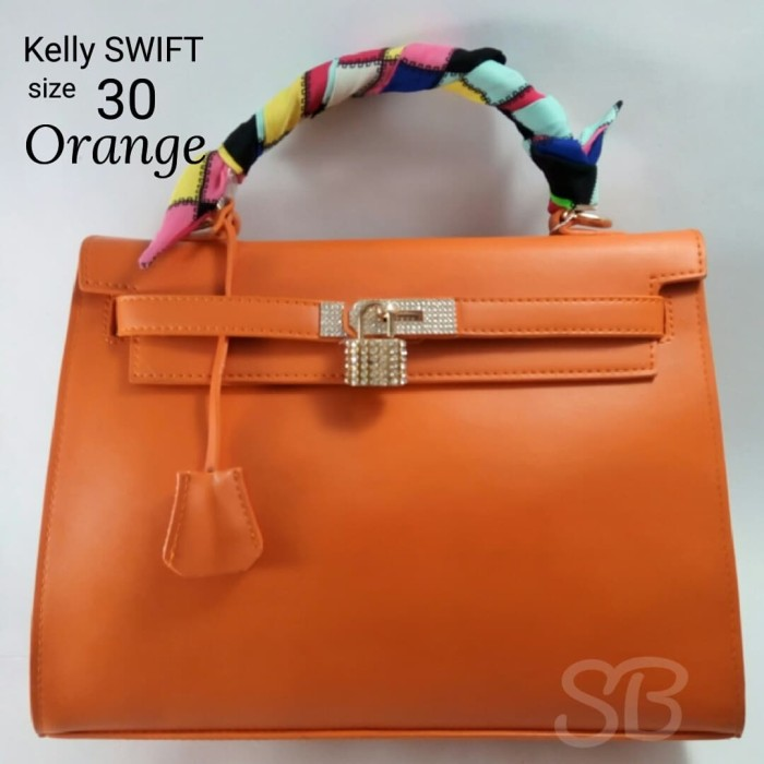 Jual Tas Wanita Hermes Kelly Swift Uk30 Ts12530 - Orange  29ea6be966