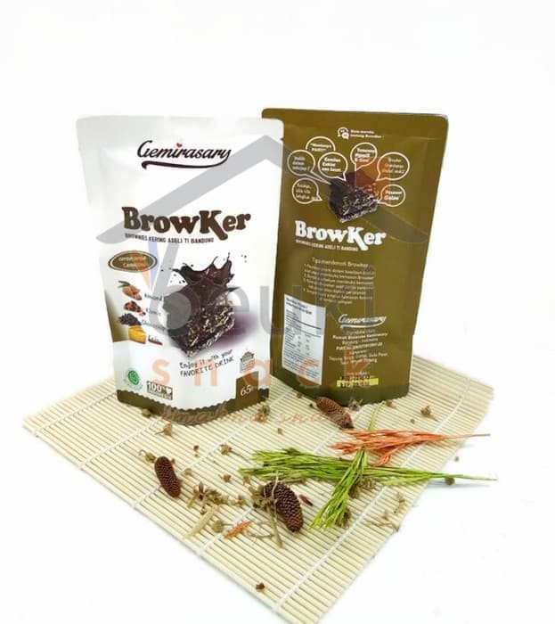 PING ! Source · Brownies Kering Gemirasary Cappuccinno - Netto 65gr - Almond