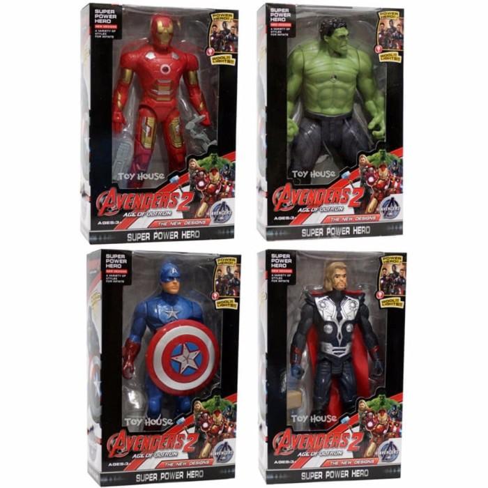 Marvel Avengers Bop Gloves Heroes 2 Piece Set Thor Hulk Iron Man Captain America