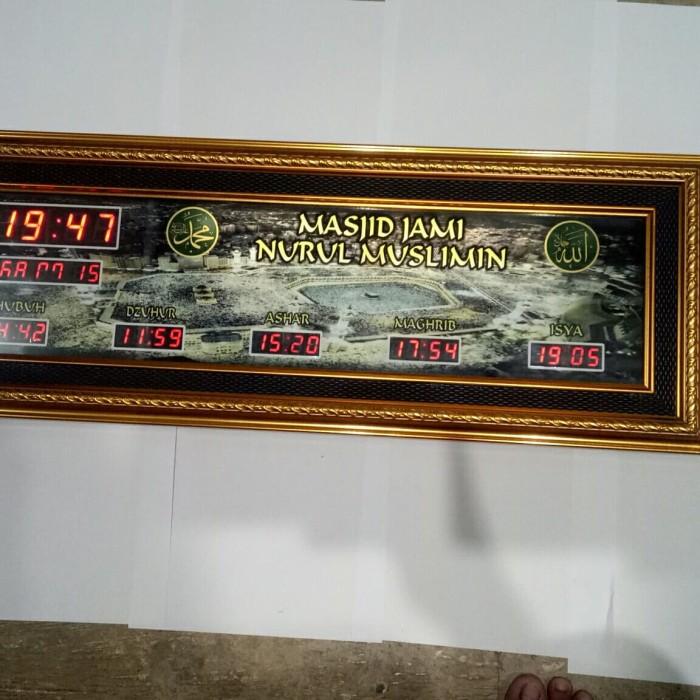 Jual Jam Masjid Penanda Pengingat Waktu Sholat Digital Ada Lampu