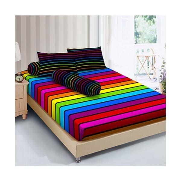 Kintakun collection d'luxe sprei - 180x200 b2 (king) - rainbow
