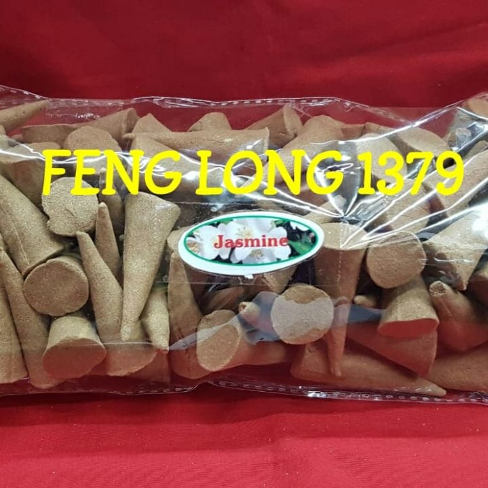harga Hio dupa tumpeng kerucut kantong aroma melati   jasmine cone incense Tokopedia.com