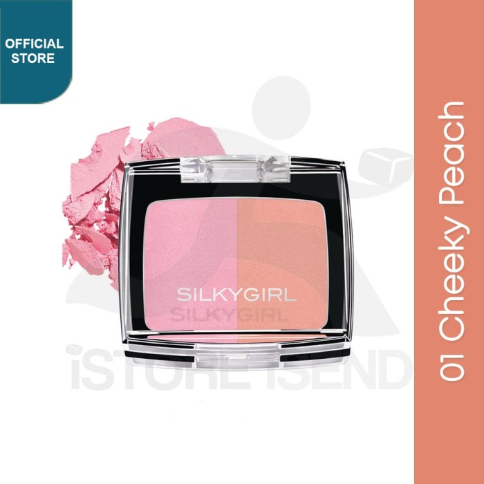 Foto Produk SILKYGIRL Shimmer Duo Blusher 01 Cheeky Peach dari SILKYGIRL Official Store