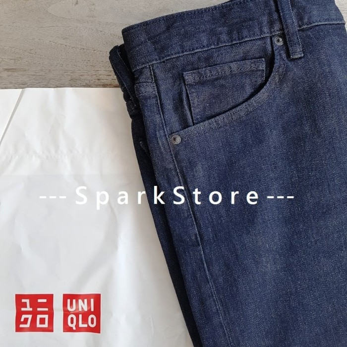 9970d336 Jual [NEW][BARU] Uniqlo Celana Jeans Slim Fit Straight Navy - Navy ...