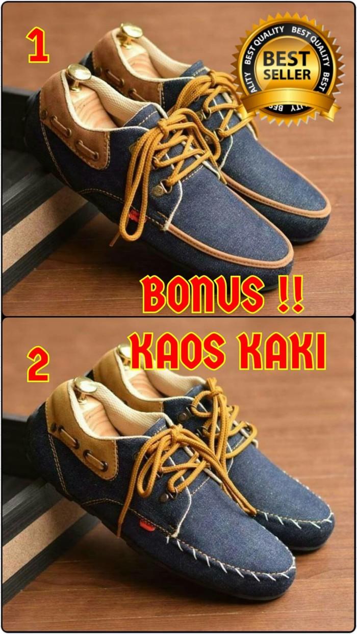 Jual Sepatu Pria Casual Kickers Denim Original Raja Bandung Kasual Sneaker