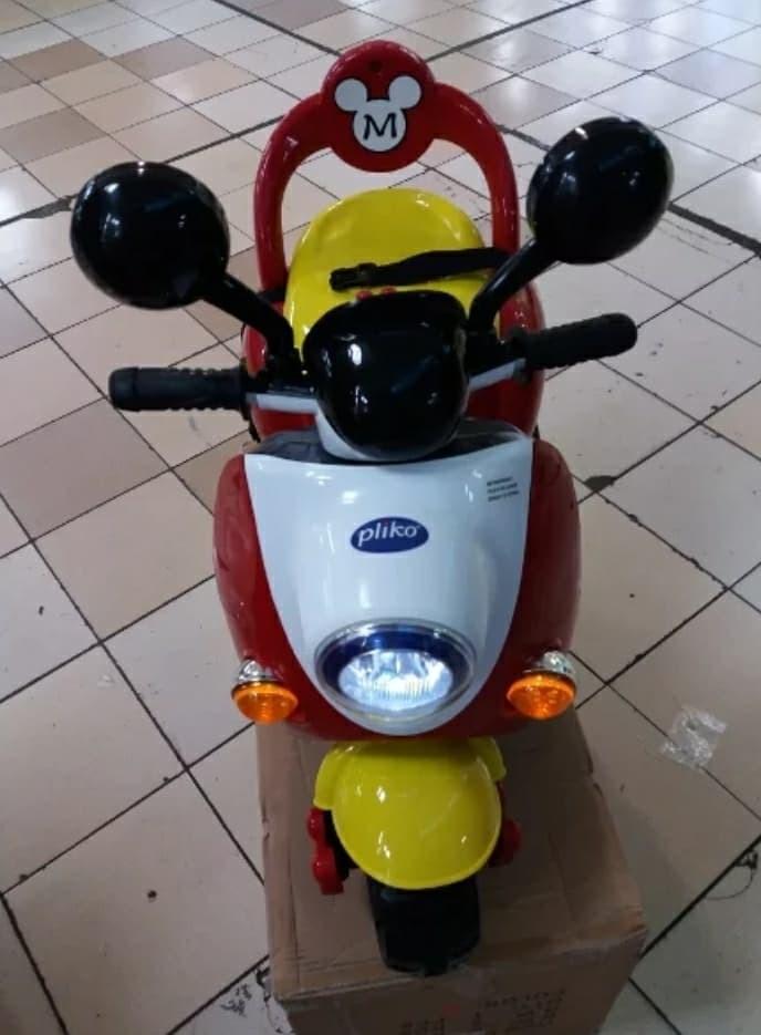 harga Mainan motor aki pliko mikey mause pk 8500 remot control dan manual Tokopedia.com