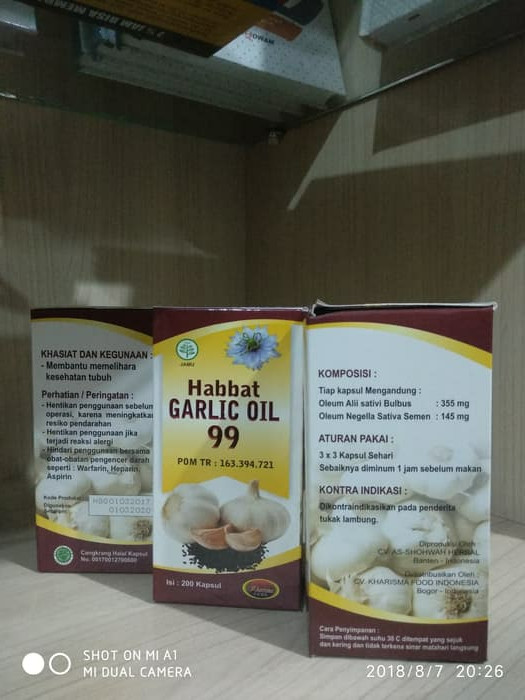 ... Jual obat Habbat garlic oil 99 isi 200 kapsul
