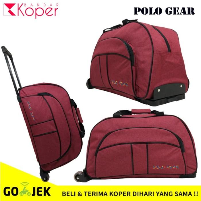 Tas Koper Kabin Travel Bag Trolley Polo Gear Original 8827 Red