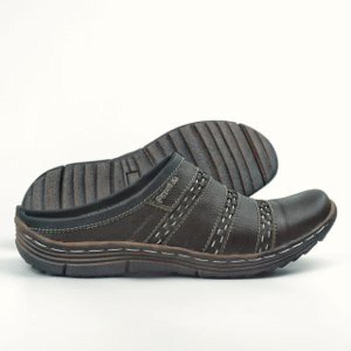 Foto Produk Sepatu Sandal Pria Casual BS02 Slop Bustong Cowok Kulit Berkualitas dari RaysD
