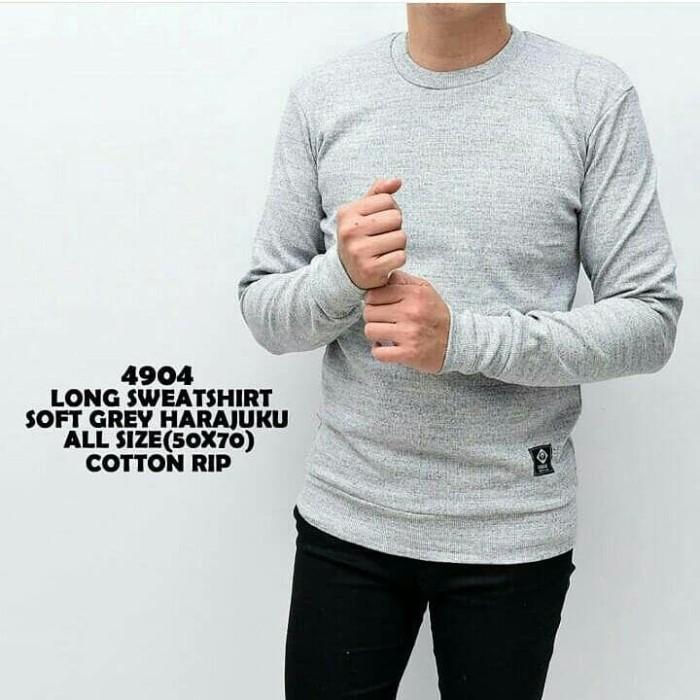 Foto Produk baju kecee - sweatshirt soft grey harajuku cotton - Putih, M dari Baju Kecee
