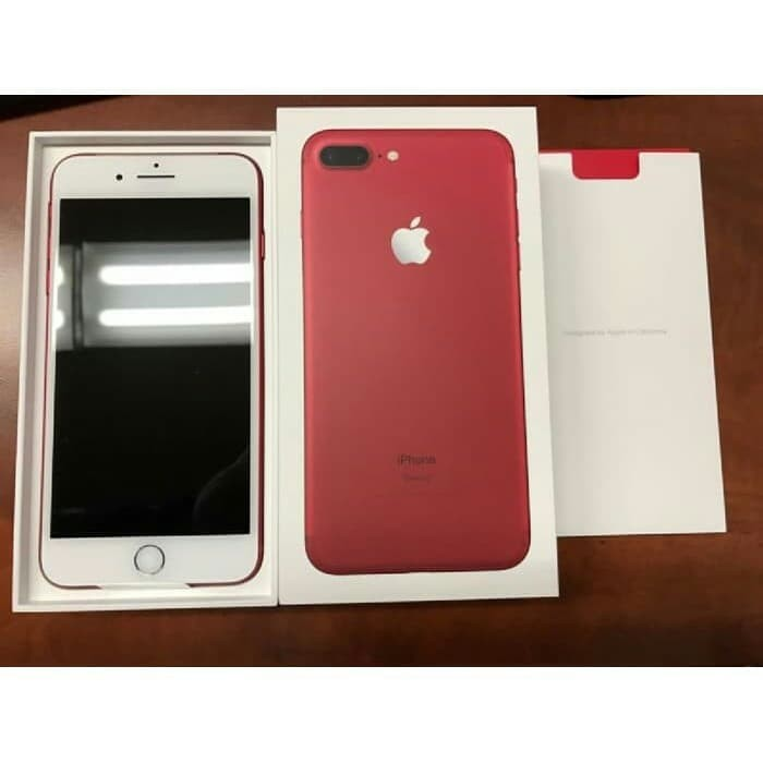 Jual iPhone 7 plus 128gb Red Edition second Fullset Mulus original iPhone7+  - Merah - Kota Batam - BALGISSHOP id | Tokopedia