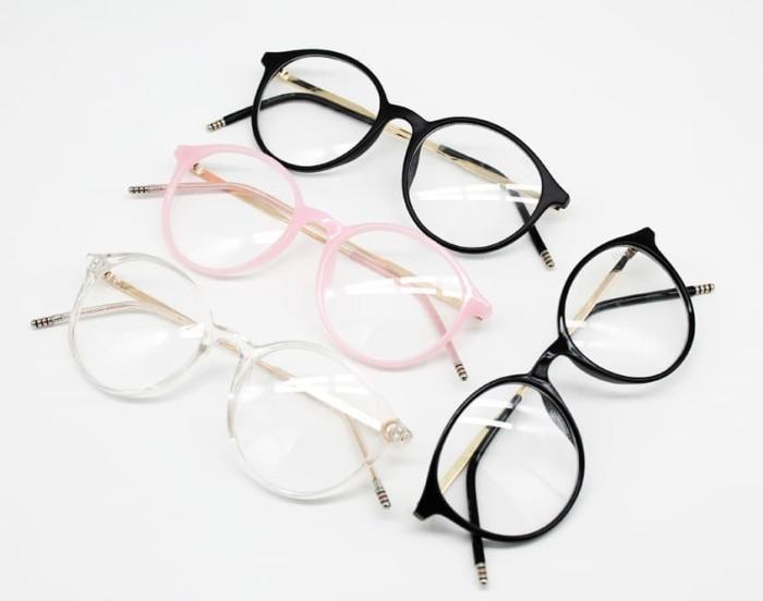 Frame Kacamata Minus Baca Fashion Zella Oval Pria Wanita - hitam doff 3b247e114b