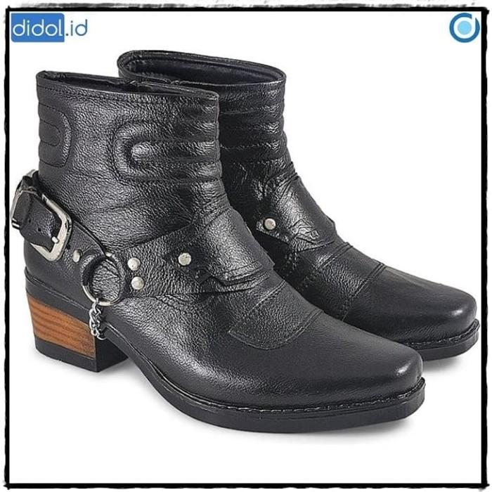 harga Sepatu boots koboi - cowboy jungle - biker - motor kulit cbr6 134 cen Tokopedia.com