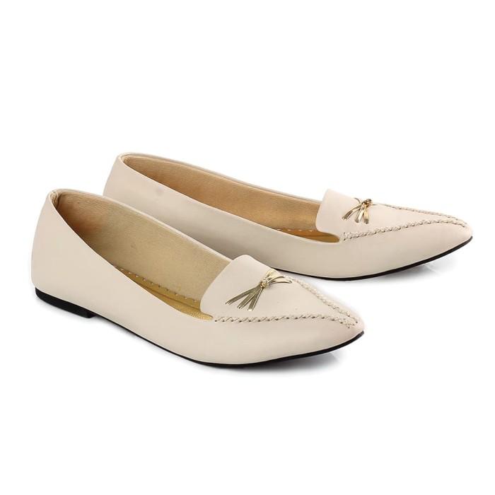 Flat Shoes Sepatu Wanita Casual Nyaman Simple Asli Bandung, BCL19 159