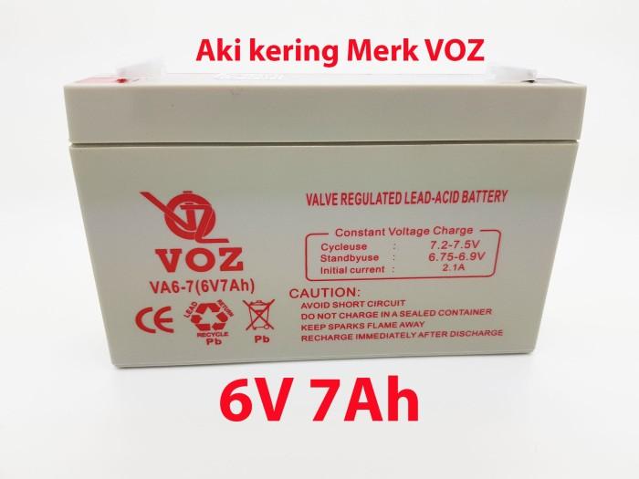harga Aki kering voz 6v 7ah mobil dan motor mainan - baterai / battery /accu Tokopedia.com