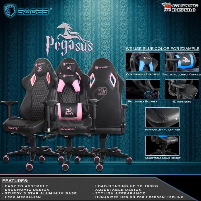 Jual Sades Pegasus-Gaming Chair - Kursi Gaming Sades ...