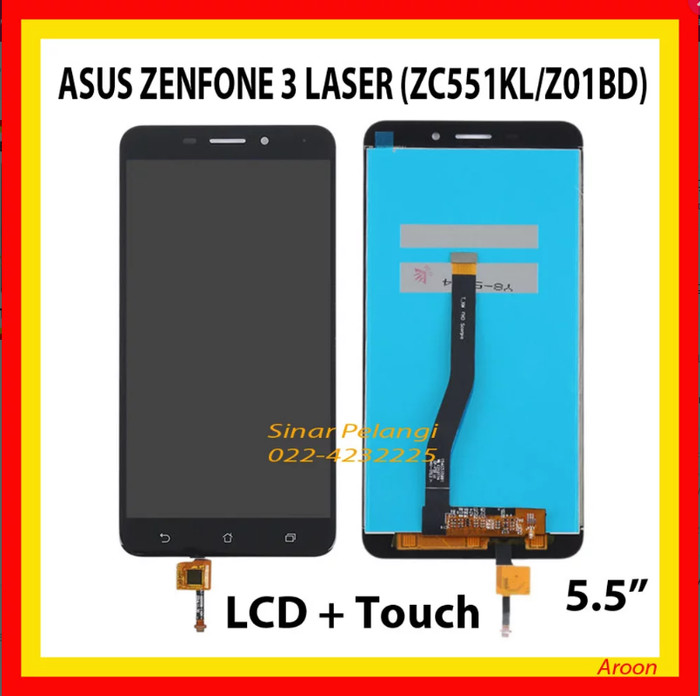 harga Lcd touchscreen 1 set asus zenfone 3 laser zc551kl z01bd black 907730 Tokopedia.com