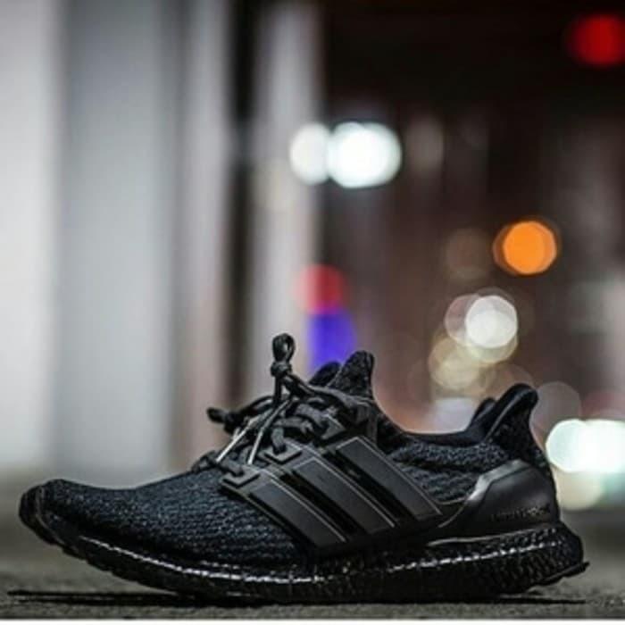 064f429d68b65 Adidas ultra boost 3.0 triple black premium quality original harga ...