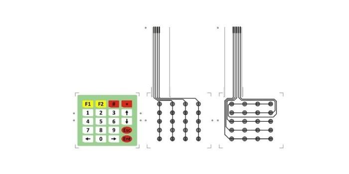 Jual 4x5 Matrix Array 20 Key Membrane Switch Keypad Keyboard 4*5 Arduino -  MTECHLIGHT | Tokopedia