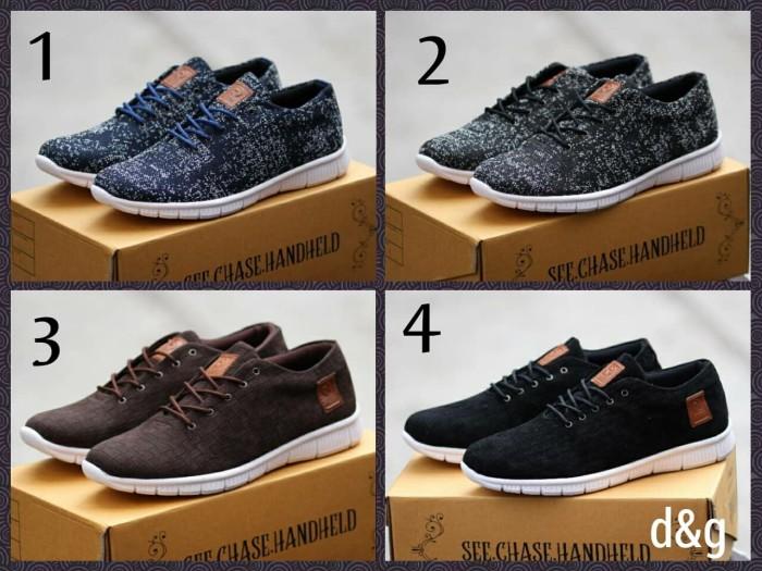 Sepatu Pria Casual Sneakers Kets Running Hiking Cowok Keren