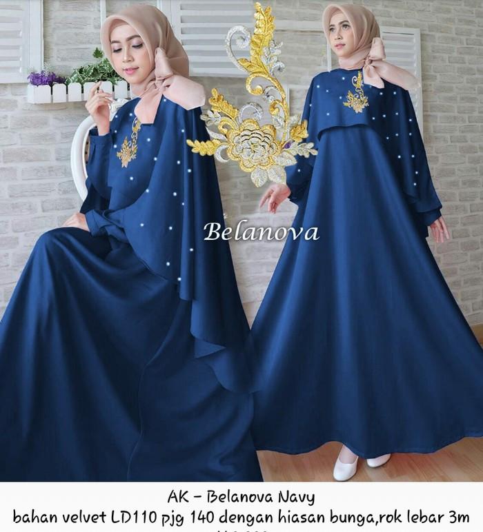 Jual Gamis Cape Dress Syari Baju Muslim Seragam Pesta Pernikahan
