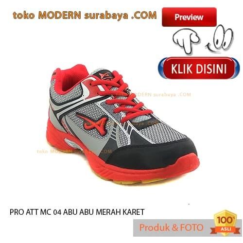 NO 39 PRO ATT MC 04 ABU ABU MERAH KARET sepatu olahraga running sneake 389e8ee088