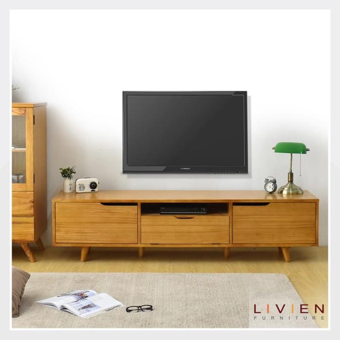 Kirana Furniture Audio Rack Rak Tv Meja Tv Bf 828 Dm Dark Mahony . Source ·