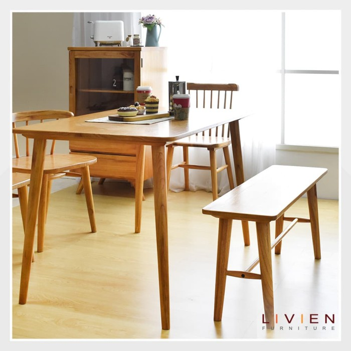 harga Meja makan ribe 1200 / ribe table 1200 livien furniture Tokopedia.com