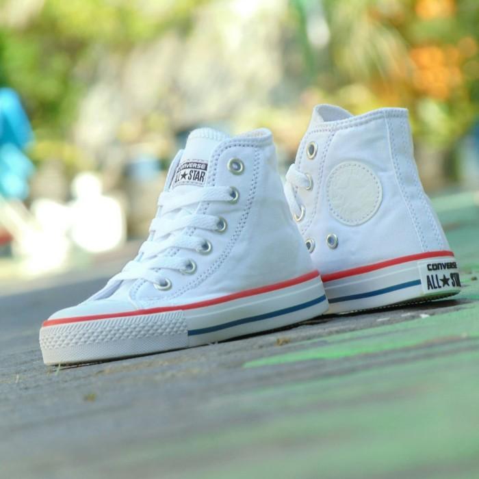harga Sepatu anak converse all star high junior - full white putih 02  Tokopedia.com 7b9d8a2b03