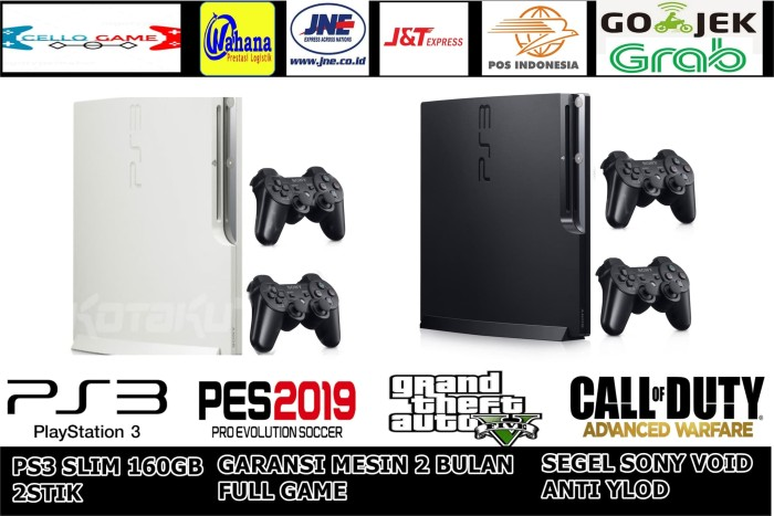 Jual PS3 SLIM OFW HDD 160GB 2 STIK WIRELESS PKG SONY PLAYSTATION 3 GRADE A  - PpthRequestgame - Kota Tangerang Selatan - cello game | Tokopedia