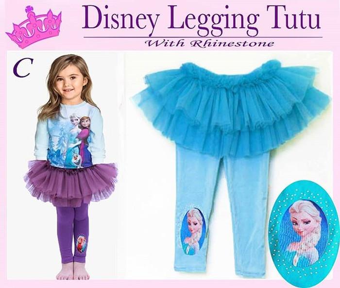 Disney Legging Tutu Baby Celana Rok Frozen Blue