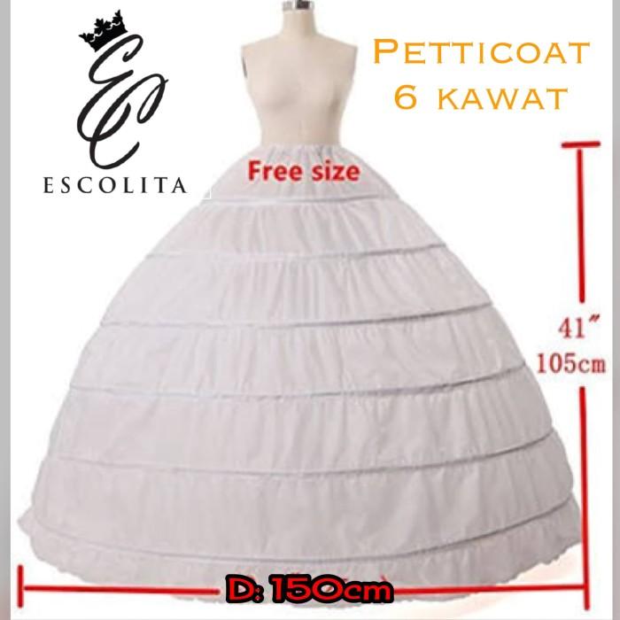 harga 6 kawat 150cm - petticoat / petikot / rok kawat pengembang dewasa Tokopedia.com