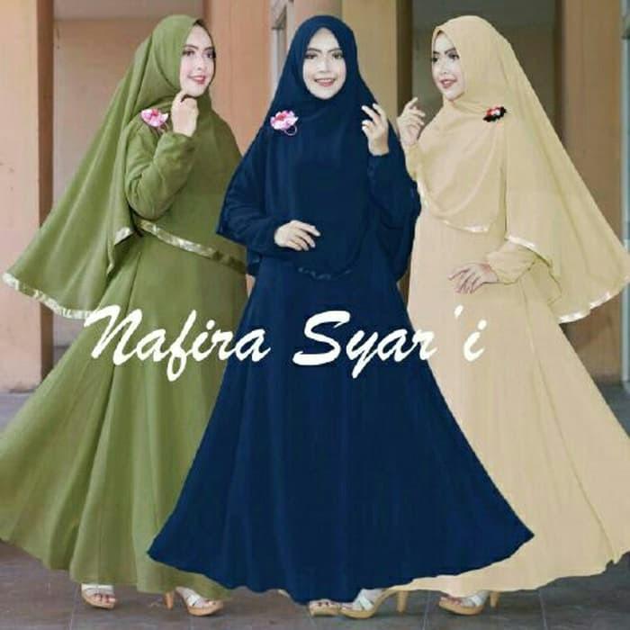 Nafira Syari #1 Navira Gamis Dewasa Busui Murah Muslimah Syari A048